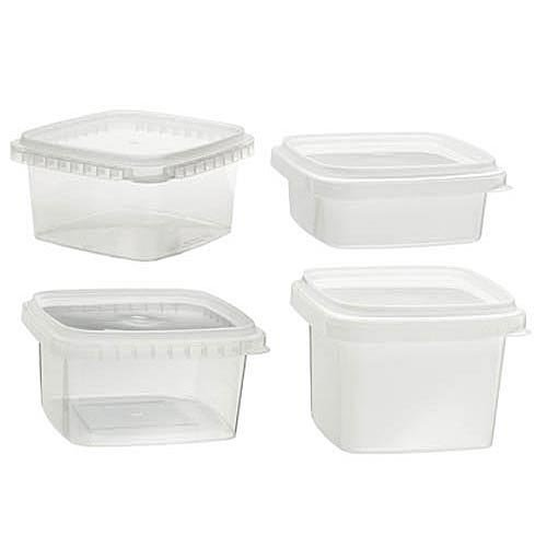 Amazon.com: Clear Deli Food Storage Containers With Lids Tamper Evident  Security System And Easy Stackable And Space Saver Shape Restaurant Take  Out/ ...