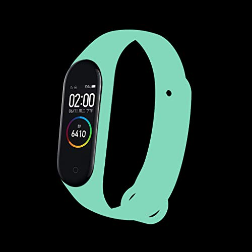 Sodoop Luminous Watchband for XIAOMI MI Band 4 Newest Soft Night Luminous Sports Silicone Wristband Replacement Bracelet Strap for XIAOMI MI Band 4 Fitness Tracker