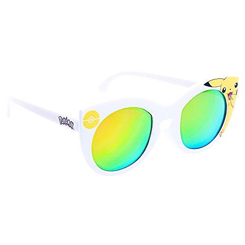 Costume Sunglasses Pikachu White Pink Lens Arkaid Party Favors UV400 -