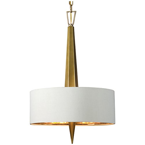 Uttermost 21264 Obeliska 3 Light Chandelier, Gold - Brass 3 Light Chandelier