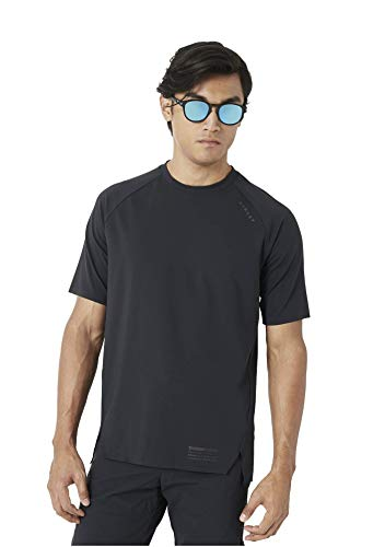 Oakley Latch Short Sleeve TOP Shirt, Blackout, Size Medium