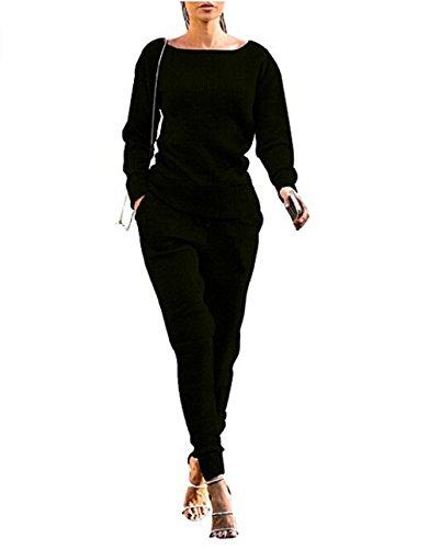 Women's 2pcs Hoodies Sweatshirt Pants Sets Casual Tracksuit - 9