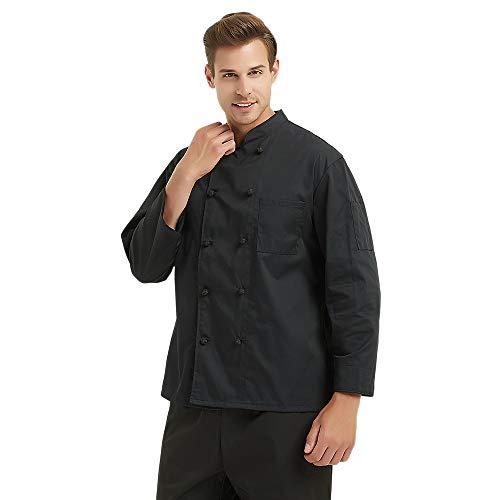 Toptie Noeuds Chef Manteau Black Button 10 Unisexe SUxqwrSP
