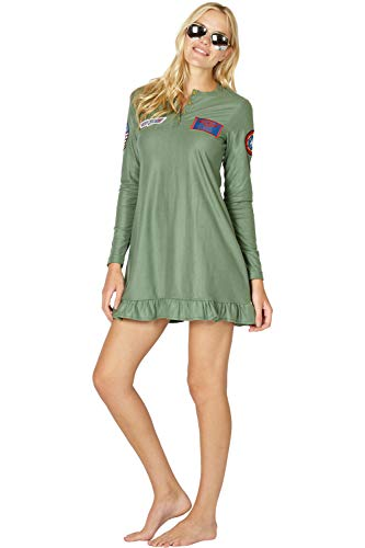 Top Gun 'Maverick' Costume Pajama Ladies Nightgown - 4 Sizes