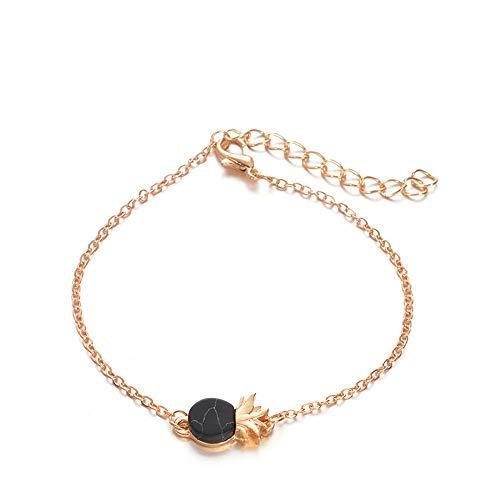 (Alloy Three-Dimensional Ankle Bracelets Fashion Jewelry Pineapple Bracelet)