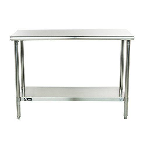 Edge Workbench Shop Top (Work Bench Kitchen Island Dining Stainless Steel Table Furniture Solid Counter Workbench1)