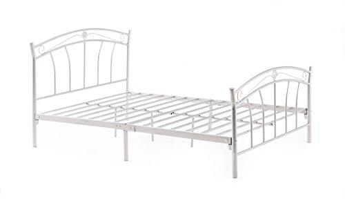 White Metal Queen Bed - 5