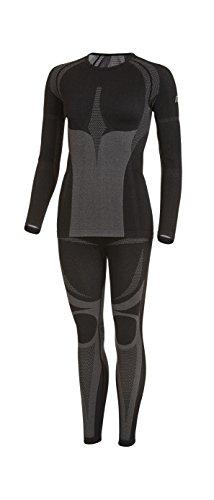 Sport-Profi-Funktionswäsche - Damen Seamless Set 40/42 (Hemd + Hose) von Medico - Hochwertige Thermo- & Funktionsunterwäsche - ohne störende Nähte mit Elastan, hochelastisch - Skiunterwäsche, Motorradunterwäsche, Unterwäsche