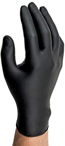 Microflex (MFXMK296M) MidKnight Black Powder-Free Nitrile Examination Gloves - Medium