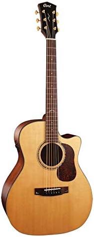 Guitarra electroacustica Cort GOLD-A6 NAT w/case: Amazon.es ...