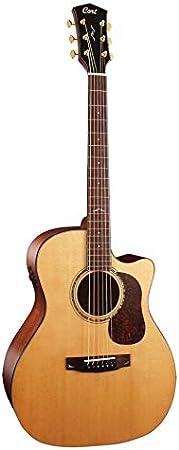 Guitarra electroacustica Cort GOLD-A6 NAT w/case