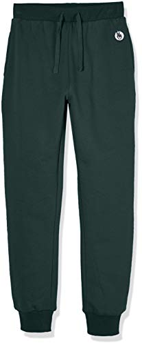 Kid Nation Kids' Soft Brushed Fleece Casual Pull-On Jogger Sweatpant with Pockets for Boys or Girls XL Evergreen