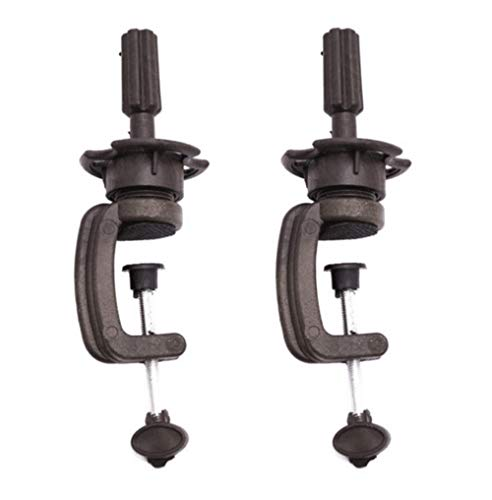 GEOOT Wig Heads Stands Mannequin Head Table Clamp Stand Wig Mannequin Head Stand 2PCS