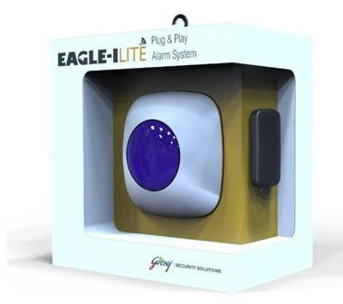 Godrej Security Solutions Godrej Eagle-I Lite Wireless Burglar Alarm Kit (White)