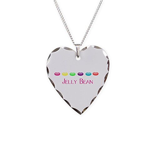 CafePress - Jelly Bean - Charm Necklace with Heart Pendant
