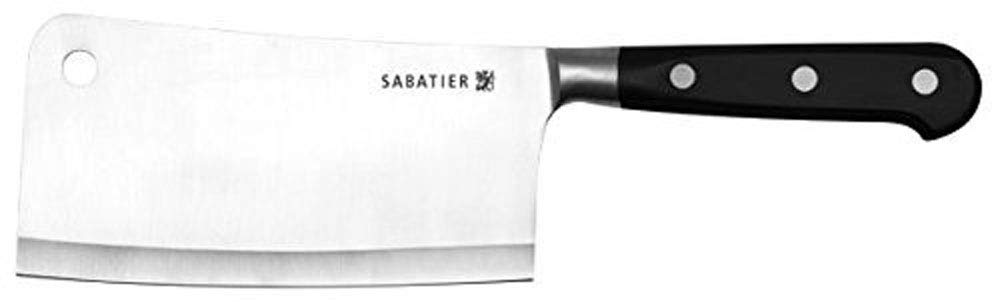 Sabatier Forged Stainless Steel 6-inch Cleaver, Triple Riveted and Balanced