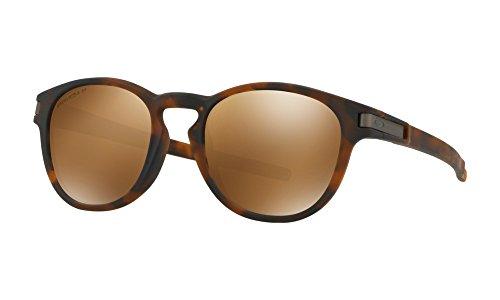- Oakley - Latch Asian Fit - Matte Brown Tortoise Frame-Prizm Tungsten Polarized Lenses