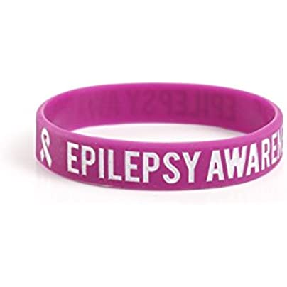 Komonee Epilepsy Awareness Purple Silicone Wristbands Pack 10 Estimated Price £6.99 -