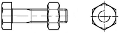 4.6 220/Pack of 25/Quality: Basic Galvanised Aparoli SJA 36110/QB DIN 601/Hexagonal Screws with Shaft