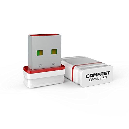 CF-WU815N 150Mbps Wireless Adapter 11N Mini USB WiFi Adapter 2.4G Free Drive Wireless WiFi Dongle Network Card Eth/Zcash/ETC Mining (Cf Card Wireless)