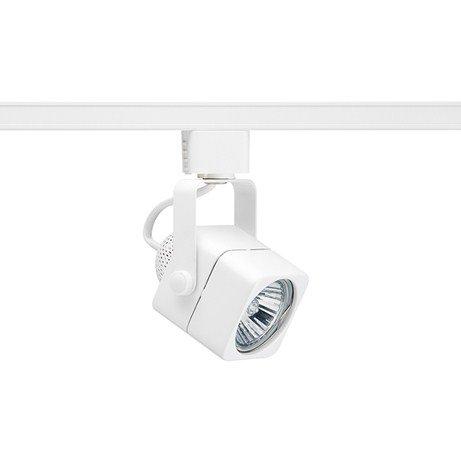 1- Juno R714-WH Trac-Lites 50 Watt GU10 White Cast Cube Track Head R714 WHITE