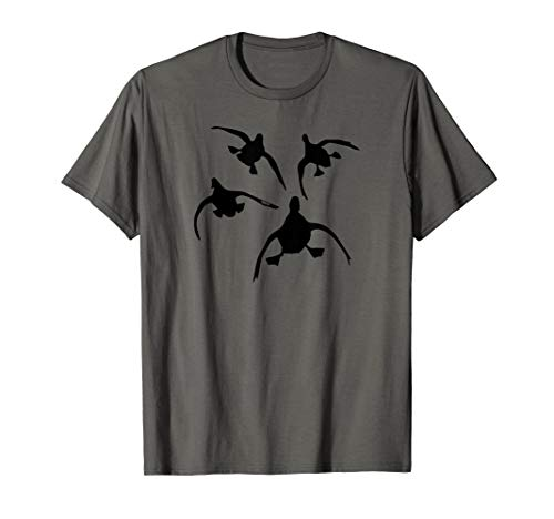 Duck Hunting T Shirt by Committed Waterfowl: Four Coming In (Best Duck Hunting In Louisiana)
