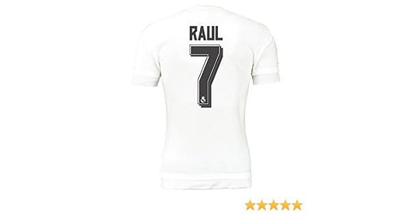 adidas Camiseta Real Madrid Réplica Jugadores, Hombre, Raul 7, XXXL 48-50 Inches Pecho: Amazon.es: Deportes y aire libre