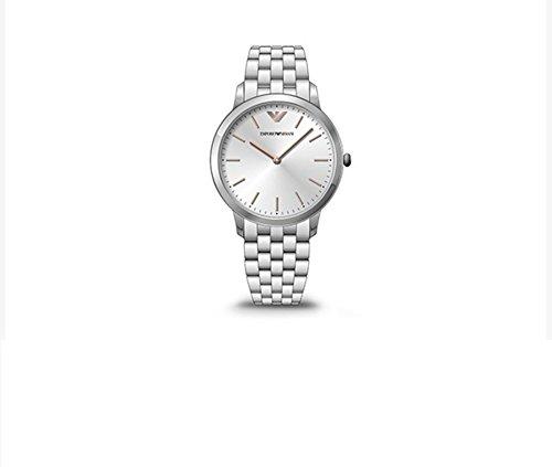 NWT Emporio Armani Men's Watch Silver Bracelet Link Rose Gold Index AR2484 $275