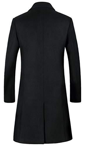 Genou Mileeo Au Pardessus En Noir Costume Trenchcoat Veste Homme 8Uw7qA