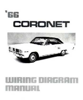 1966 DODGE CORONET Wiring Diagrams Schematics