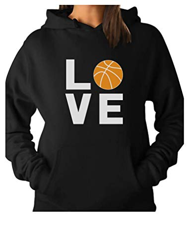 Love Basketball - Gift Idea for Basketball Fans/Player Cool Women Hoodie Medium Black