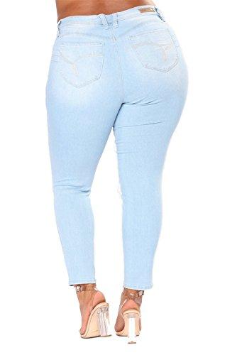 Size Elasticit`a Skinny Vestibilit`a Hole Plus Regular Denim Moda Vita Dunland Alta Donna Z8Iwaa