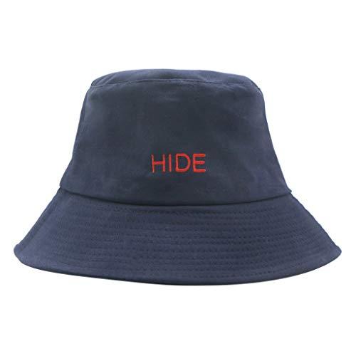 TANGSen Women's Men Hat Comfortable Letter Basin Hat Fashion Unisex Fisherman Hat Casual Visor Outdoor Collapsible Cap Navy
