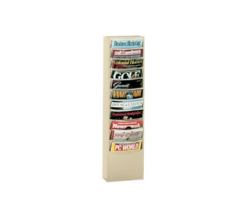 Durham 405-95 Gray Cold Rolled Steel 11 Large Pocket Literature Rack, 13-1/4