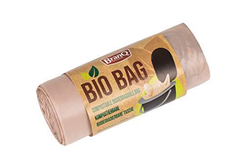 31jP373N0sL BranQ - Home essential Unisex-Adult Toilettenbeutel Bio 20 Stück Limited Edition für Campingtoiletten, braun, 22 l