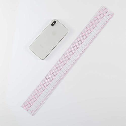 DIHAN #B95 18インチ 45cm メトリックインチ 8th 多機能 衣類定規 ファッションデザイン用目盛り定規