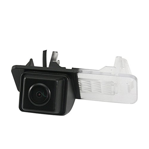 Misayaee Rear View Back Up Reverse Parking Camera in License Plate Lighting Night Version (NTSC) for MB Smart 451,Smart R300/R350/Fortwo/Smart ED 2007-2014
