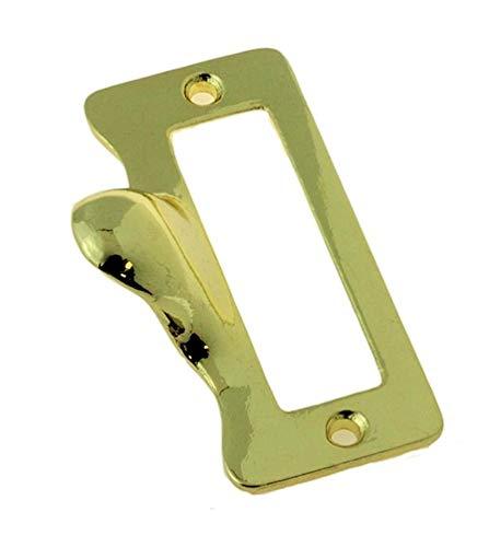 - Polished Brass Finger Pull Label Holder | Office Store Drawer Filing Name Tag Card Frame for Antique Vintage Modern Cabinet Restoration Hardware + Free Bonus (Skeleton Key Badge) |DL-C1947-5734PB (10)