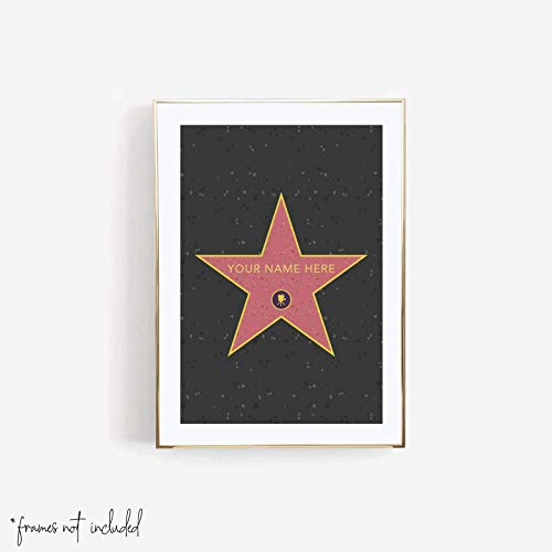 Personalized Hollywood Walk of Fame Star Print,