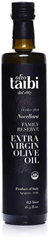 2018 GOLD WINNER Olio Taibi Organic Extra Virgin Olive Oil, 16.9 oz (Best Italian Olive Oil In The World)
