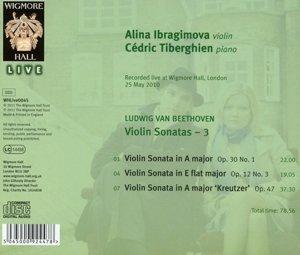 Beethoven: Violin Sonatas, Vol. 3 - Nos. 3, 6 & 9, Opp. 12:3, 30:1, 47