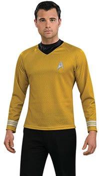 Star Trek Shirt Adult Costume Gold - Large