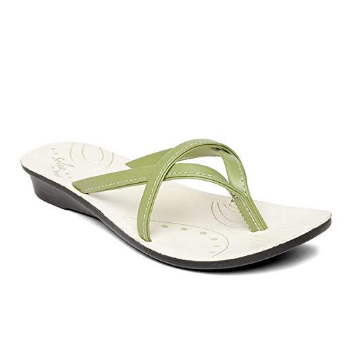 PARAGON Women's Green Fashion Slippers – 4 UK (35.5 EU) (A1PU7905LGRN00004G179)