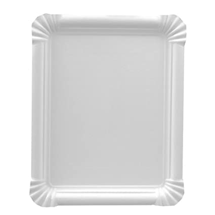 Papstar 11071 250 pure - Bandeja rectangular de cartón (16,5 x 20 cm