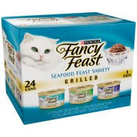 Fancy Feast Grilled 3-Flavor Seafood Variety Pack Canned Cat Food 24 - 3oz Cans