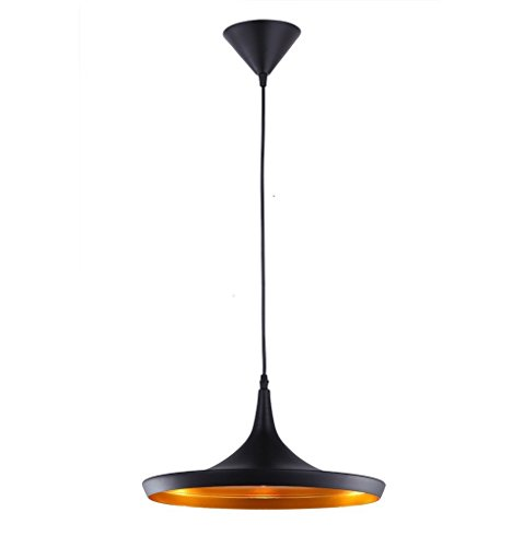 Reproduction of Tom Dixon Beat Shade Wide Pendant Lamp Light Black