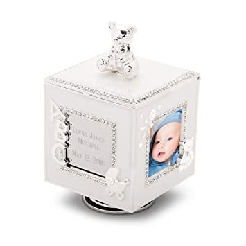 amazon com things remembered personalized baby musical cube frame