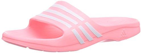 adidas Performance Duramo Sleek, Damen Dusch- & Badeschuhe, Pink (Light Flash Red S15/Ftwr White/Light Flash Red S15), 39 EU (6 Damen UK)