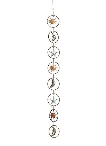 Ancient Graffiti AG-87074 Sun/Moon/Star Hanging Ornament, 5 x 57