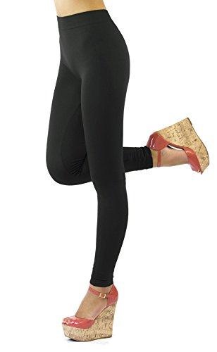 D&K Monarchy Thin Full Length Leggings Black Medium Large